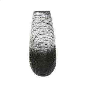 Ceramic 19.5 Vase, Gray