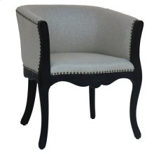 Banks Ebony and Ivory Nailhead Upholstered Club Chair