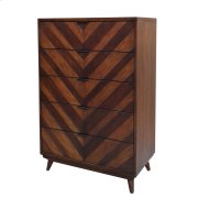 Piero Chevron Chest with 5 Drawers, Java Product Image