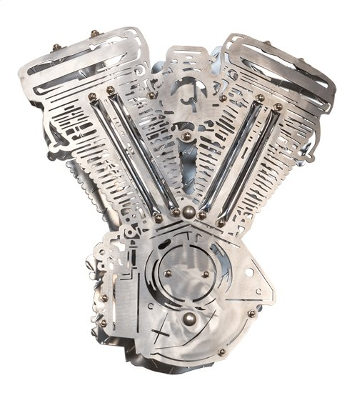"""15"""" Wide Motorcycle Motor Wall Sconce"""