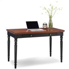 Farmhouse Turned leg Black Two-tone Laptop Desk with Center Drawer #83410