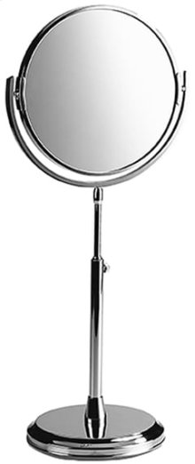 Chrome Plate Plain / magnifying (x5) mirror with adjustable height