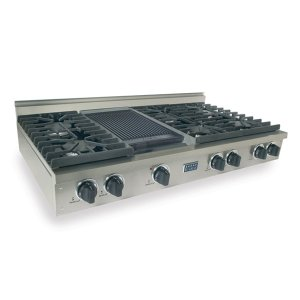 "Five Star48"" Gas Cooktop, Sealed Burners, Stainless Steel"