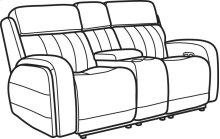 Danvers Leather Power Reclining Loveseat with Console and Power Headrests