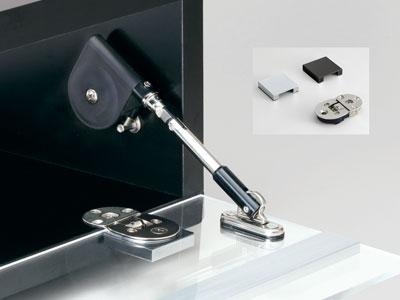 Glass Drop Lid Hinge (adjustable Type)