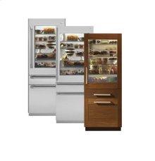 "Monogram® 30"" Fully Integrated Glass-Door Refrigerator for Dual Installation"