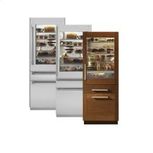 "Monogram® 30"" Fully Integrated Glass-Door Refrigerator with Convertible Drawer"