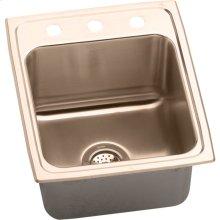 "Elkay CuVerro Antimicrobial Copper 17"" x 22"" x 10-1/8"", Single Bowl Drop-in Sink"