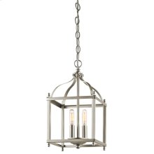 Larkin Collection Larkin 2 Light Foyer Chandelier - Brushed Nickel