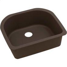 "Elkay Quartz Luxe 25"" x 22"" x 8-1/2"", Single Bowl Undermount Sink, Chestnut"