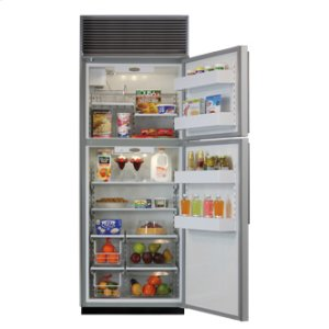 """30"""" Refrigerator with Top Freezer - 30"""" Marvel Refrigerator with Top Freezer - White Interior, Stainless Steel Door, Right Hinge"""