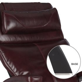 Perfect Chair PC-420 Classic Manual Plus - Burgundy Premium Leather - Matte Black