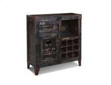 Sunset Trading Graphic 9 Bottle Wine Cabinet