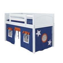 Under Bed Curtain : Blue/Orange