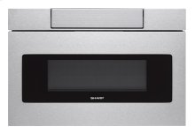 30 in. 1.2 cu. ft. 1000W Sharp Stainless Steel Microwave Drawer Oven (SMD3070AS)