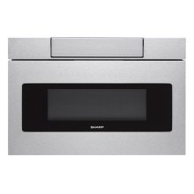 30 in. 1.2 cu. ft. 950W Sharp Stainless Steel Microwave Drawer Oven