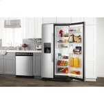 Amana 36-Inch Side-By-Side Refrigerator With Dual Pad External Ice And Water Dispenser - Stainless Steel