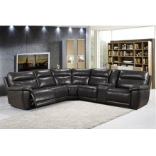 2490 Martin Sectional Armles Chair 1202lv Grey