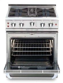 """30"""" four open top burner gas self-clean range + convection oven - LP"""