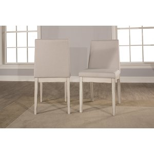 Clarion Upholstered Dining Chair - Set of 2 - Sea White