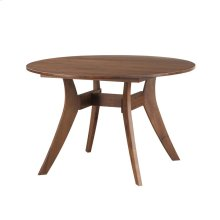 Florence Round Dining Table Walnut 42""
