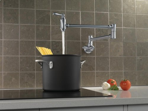 Arctic Stainless Traditional Wall Mount Pot Filler