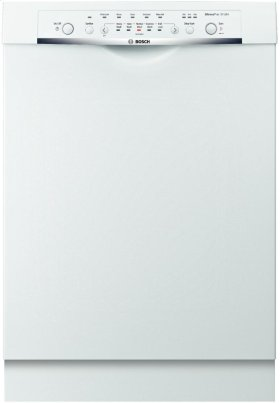 "24"" DLX Recessed Handle Dishwasher Ascenta- White"