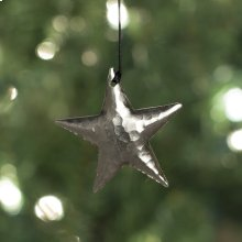 Medium Star Ornament in Brushed Nickel