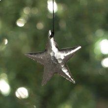 Medium Star Ornament in Brushed Nickel