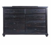 Mountain Retreat - 8 Drawer Dresser Dk Brown Finish Overall