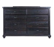 Mountain Retreat - 8 Drawer Dresser Dk Brown Finish Overall Product Image