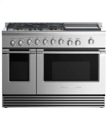 "Gas Range 48"", 5 Burners with Griddle"
