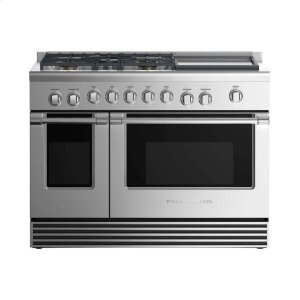 "Fisher & PaykelGas Range 48"", 5 Burners with Griddle"