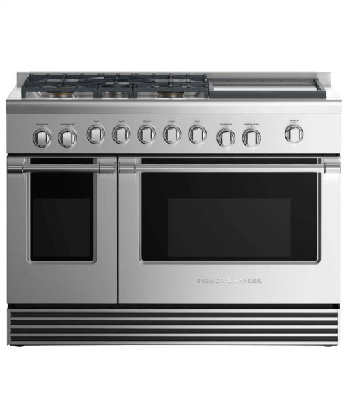 """Gas Range 48"""", 5 Burners with Griddle"""