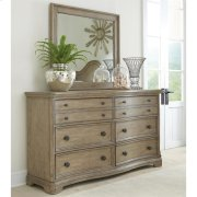 Corinne - Six Drawer Dresser - Sun-drenched Acacia Finish Product Image