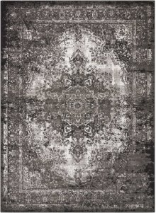 Aria Ar005 Charcoal Rectangle Rug 5'3'' X 7'3''