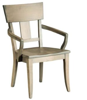 Thea Arm Chair w/ Wood Seat