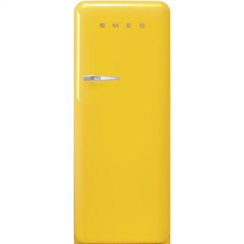 "24"" retro-style fridge, Yellow, Right-hand hinge"
