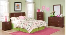 190 Twin Bed, Dresser, Mirror, Chest, and Nightstand