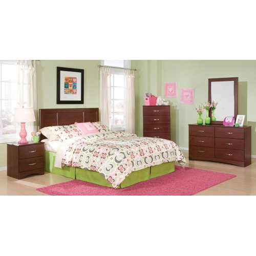 Twin Cherry Panel Headboard, Chest, and Frame