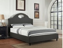 Key Hole Headboard - Queen / Full- Charcoal
