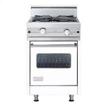 "White 24"" Wok/Cooker Companion Range - VGIC (24"" wide range with wok/cooker, single oven)"