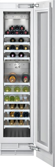 "Wine storage unit RW 414 761 Fully integrated, with glass door Width 18"" (45.7 cm)"