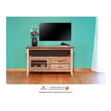 52in TV Stand w/2 drawers and 1 iron mesh door