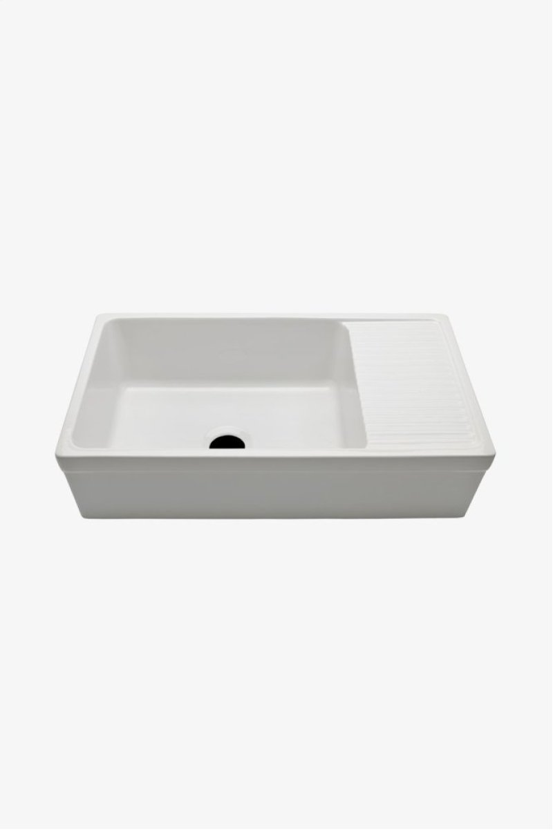 Fireclay Kitchen Sink With Drainboard Wow Blog