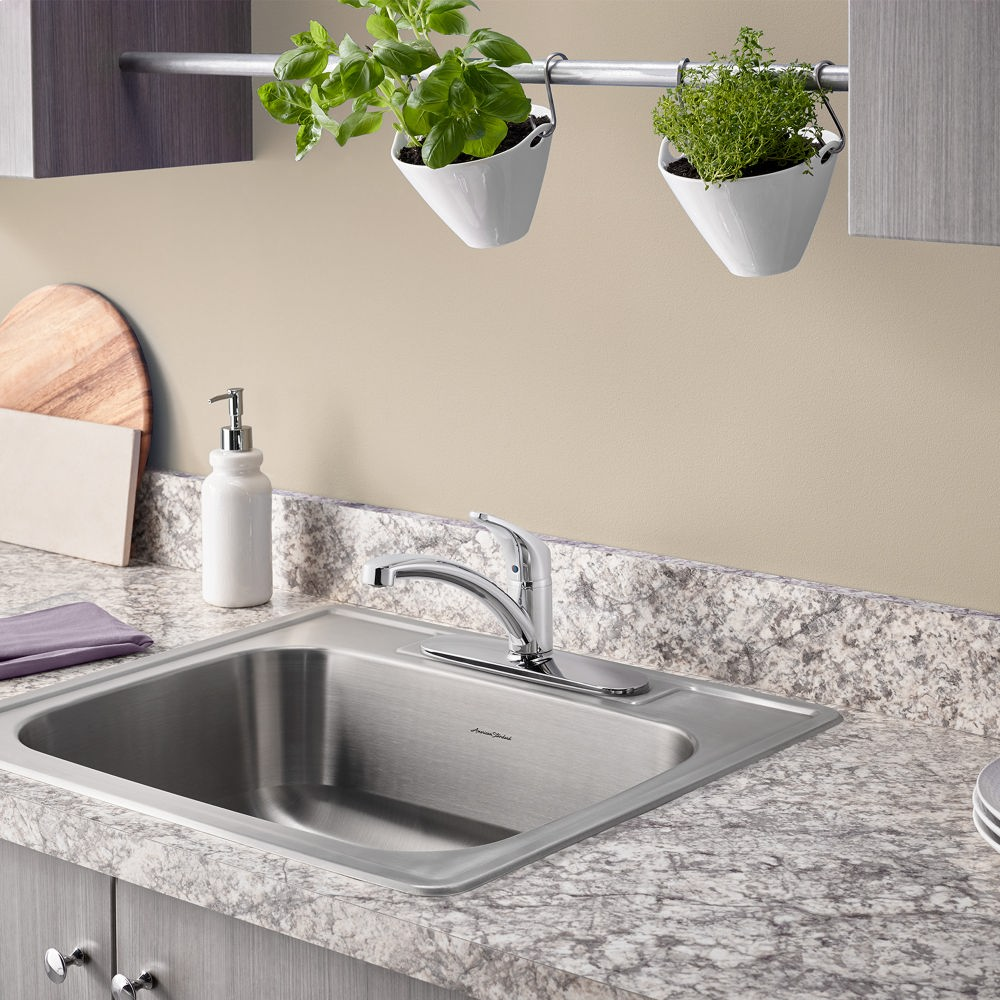 colony 25x22 inch stainless steel kitchen sink 3 hole american standard   stainless steel 20sb8252283s075 in stainless steel by american standard in new      rh   centralplumbingspec com