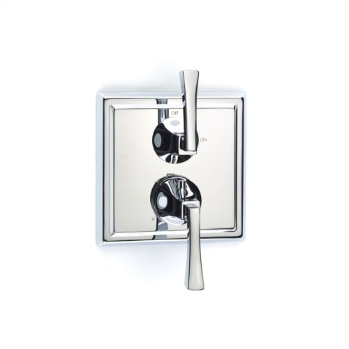 Dual Control Thermostatic With Volume Control Valve Trim Leyden Series 14 Polished Chrome