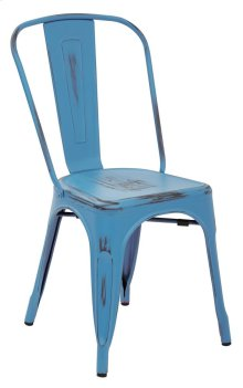 Bristow Armless Chair,antique Royal Blue, 2 Pack