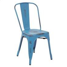 Bristow Armless Chair,antique Royal Blue, 2 Pack