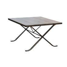 Cocktail Table, Available in Silver Iron Finish Only.